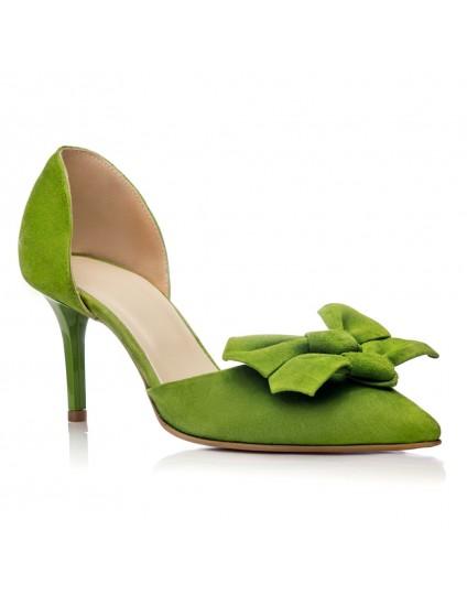 Pantofi Piele Stiletto Pretty Verde C36 - orice culoare