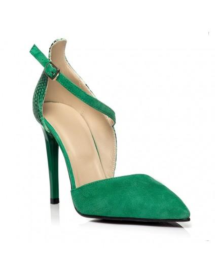 Pantofi Stiletto Clara C14 Verde  - pe stoc