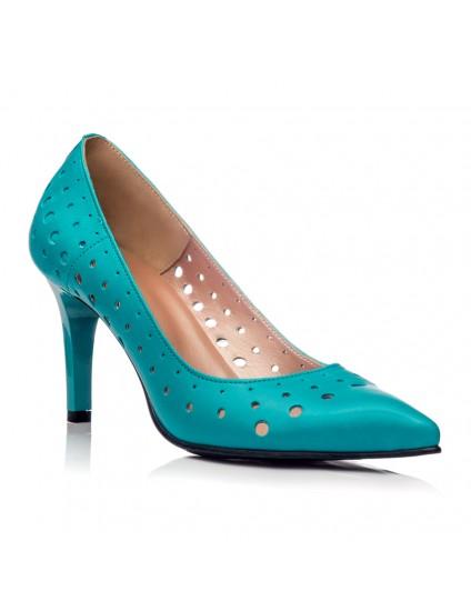 Pantofi Stiletto Piele Perforata C38 - orice culoare