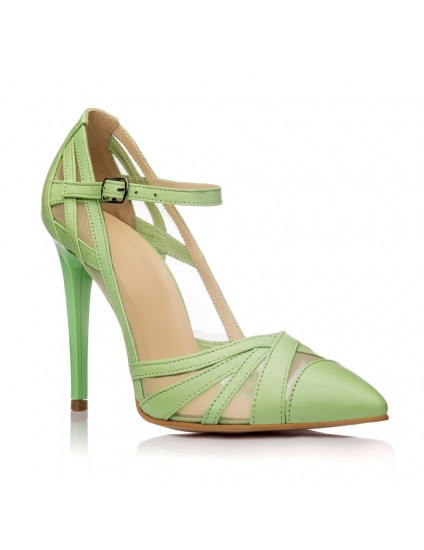 Pantofi Dama Piele Stiletto Vernil Cathy - orice culoare