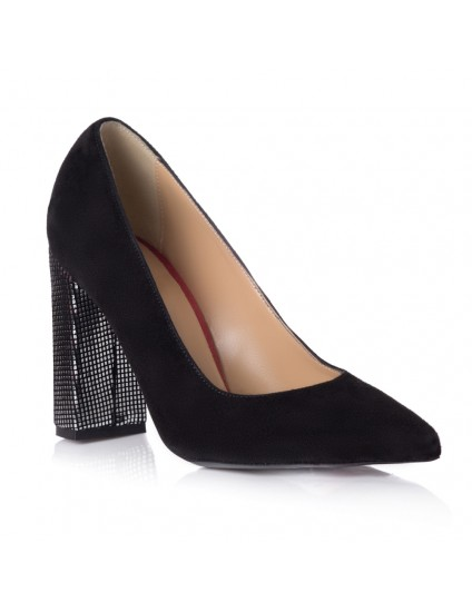 Pantofi Stiletto Toc Gros Toc Argintiu T6 - orice culoare