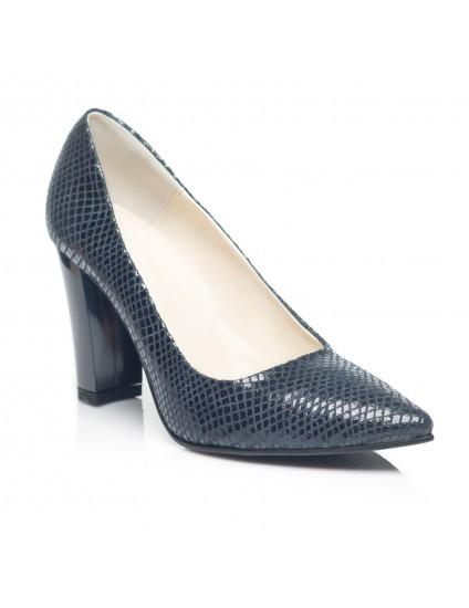 Pantofi Stiletto Piele cu Toc Gros C11 - orice culoare