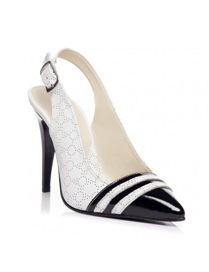 Pantofi Stiletto decupat Piele Duo V3  - orice culoare