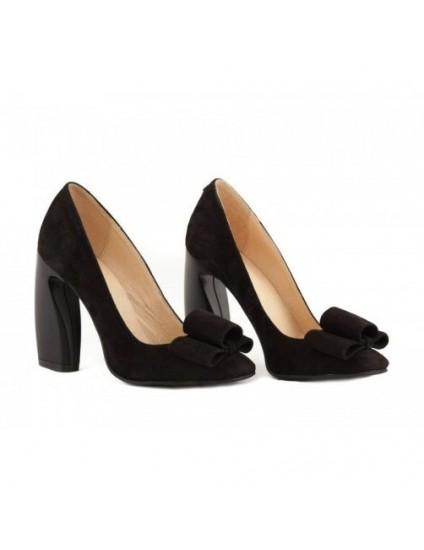 Pantofi piele Chic Madame Crook Negri - pe stoc