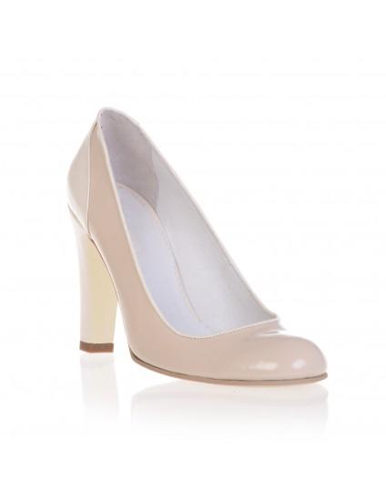 Pantofi Dama Piele Nude -  pe stoc