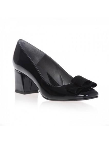 Pantofi piele intoarsa Office Chic - pe stoc