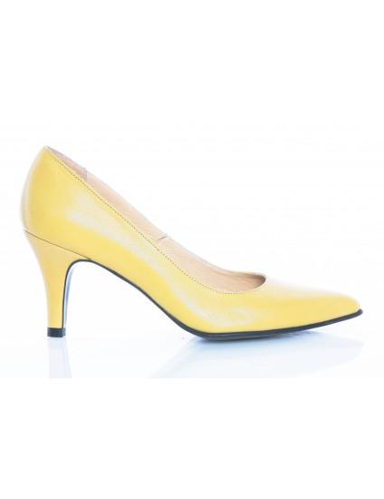 Pantofi Stiletto Galben Toc Mic - orice culoare