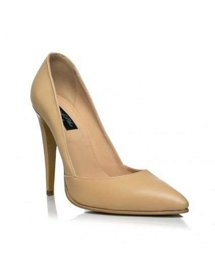 Pantofi Stiletto I1 piele Bej - orice culoare
