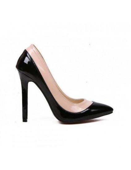Pantofi  Stiletto Duo  piele lacuita - orice culoare