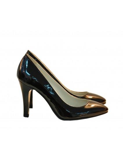 Pantofi Stiletto Diva piele lacuita negru  - orice culoare