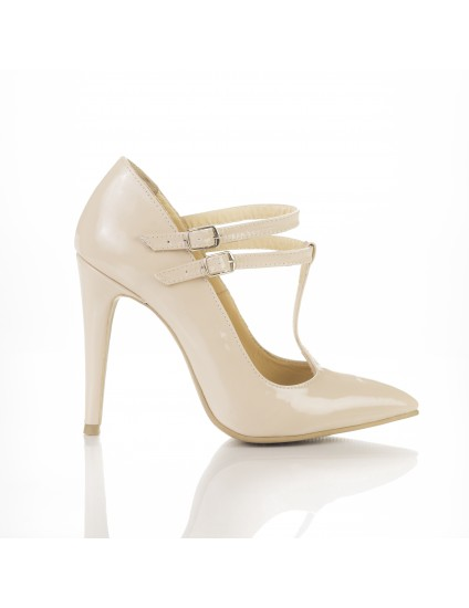 Pantofi Stiletto piele PP1 cu bareta - orice culoare