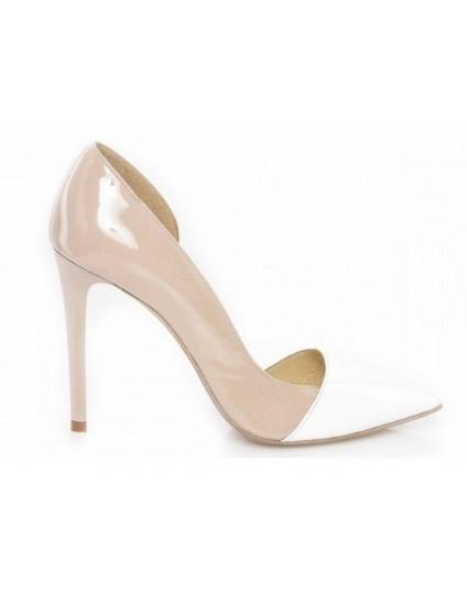 Pantofi piele Stiletto Duo decupat  - orice culoare