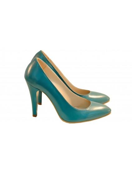 Pantofi Stiletto Diva piele naturala, turcoaz - orice culoare