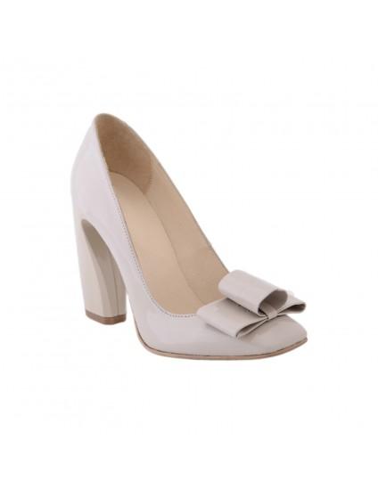 Pantofi piele Chic madame Crook  Crem - disponibili pe orice culoare