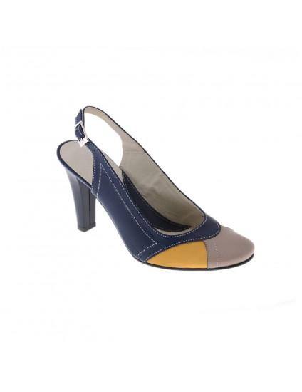 Pantofi piele naturala Madame2 decupat, disponibili pe orice culoare
