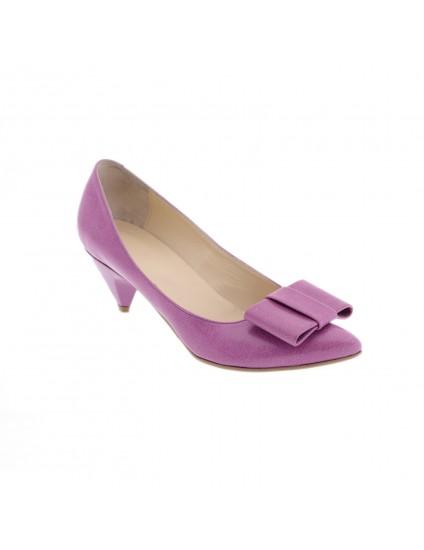 Pantofi Mini Stiletto Funda piele naturala argintiu - pe stoc