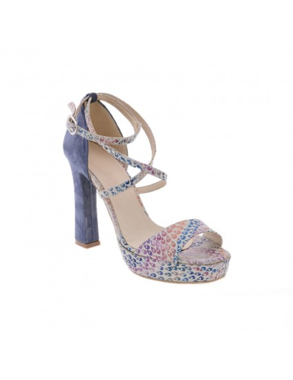 Sandale piele naturala Clara Albastru  -  Orice culoare
