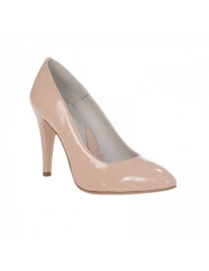 Pantofi Stiletto Nude piele naturala Casual - pe stoc