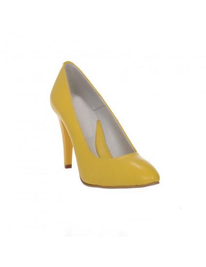 Pantofi Stiletto Galben piele naturala Casual  -orice culoare