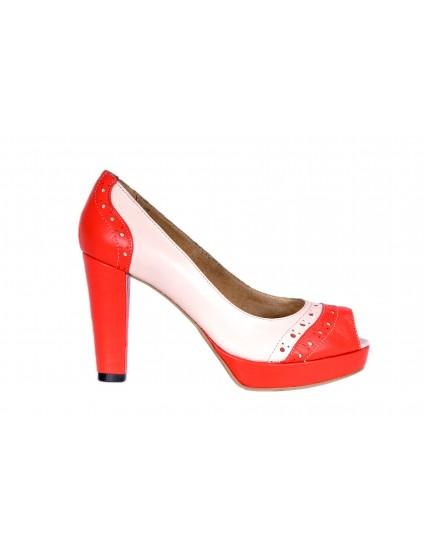 Pantofi neutral 1 decupati din piele naturala -orice culoare