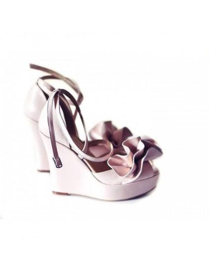 Sandale piele naturala cu platforma ortopedica Dolly negru-pe stoc