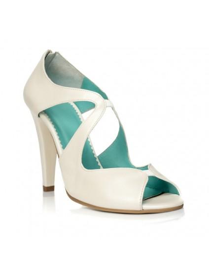 Sandale dama piele alb Elegant F17 - orice culoare