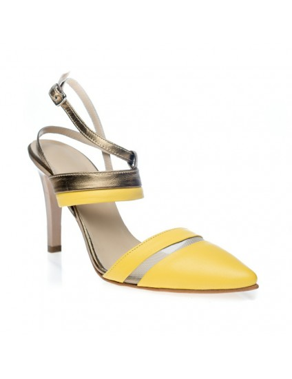 Sandale dama piele galben Blair C3