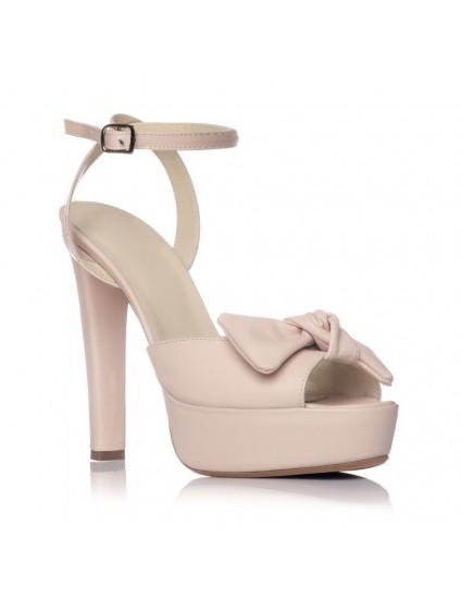 Sandale piele naturala Alison Nude - pe stoc