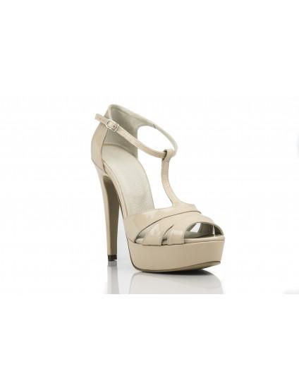 Sandale  Dama Piele Naturala Ivory - pe stoc