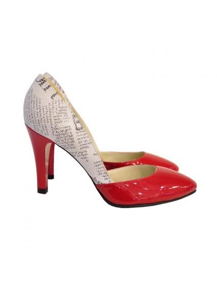Pantofi Dama Piele Stiletto Ziar D14 - orice culoare