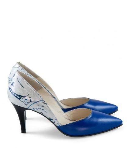 Pantofi Stiletto Piele Albastru Jasmine - orice culoare