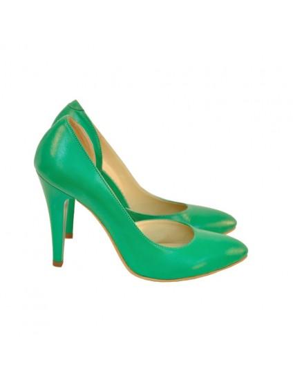 Pantofi Dama Piele Stiletto Verde D14 - orice culoare