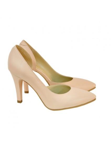 Pantofi Dama Piele Stiletto Nude D14 - orice culoare