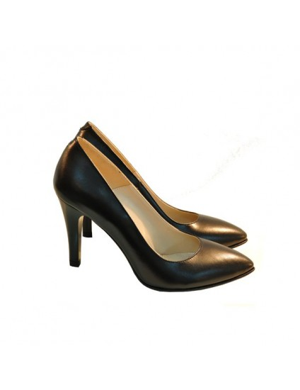 Pantofi stiletto Diva piele naturala negru