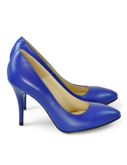 Pantofi Stiletto Piele Albastru D24 - orice culoare