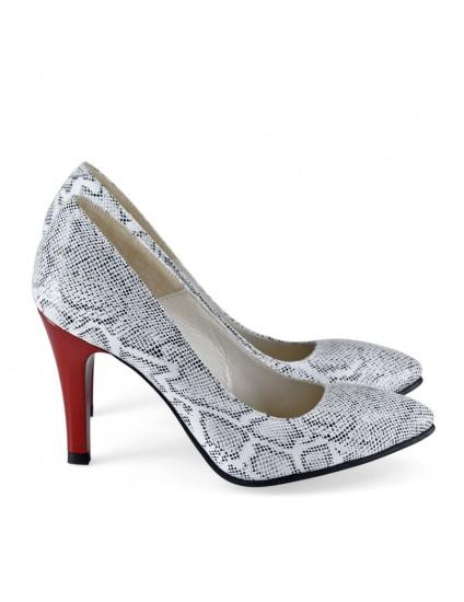 Pantofi Dama Stiletto Snake Gri D17- orice culoare