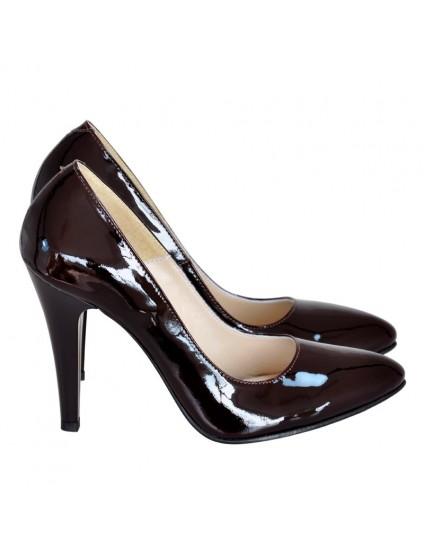 Pantofi Dama Stiletto Lac Negru D17- orice culoare