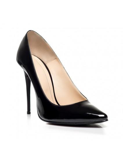 Pantofi Piele Stiletto Negru F2  - orice culoare
