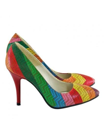 Pantofi Stiletto Rainbow D24
