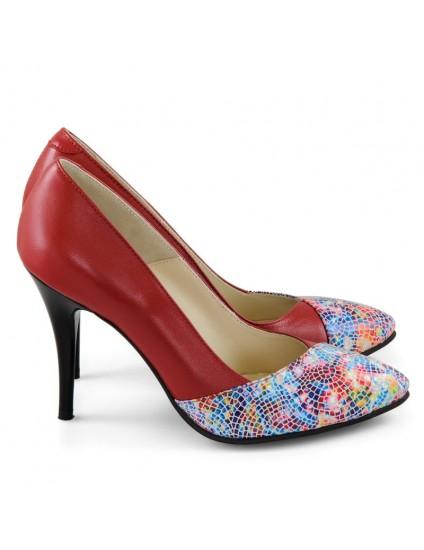 Pantofi Piele Stiletto Patrice Rosu D35 - orice culoare