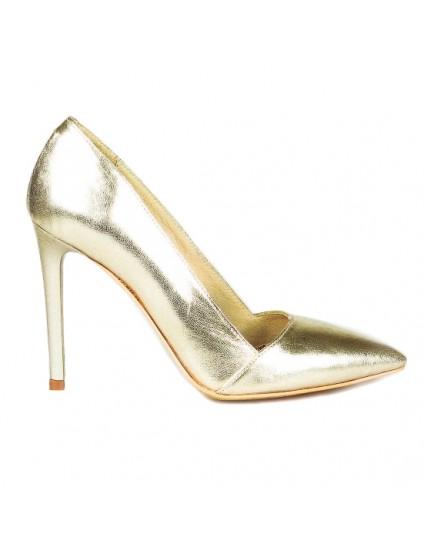 Pantofi Stiletto C10 piele Auriu - orice culoare