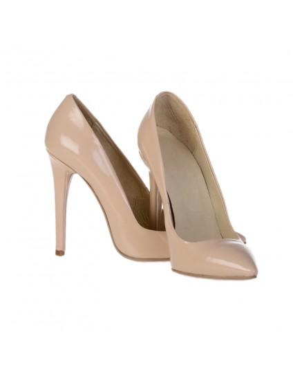 Pantofi Stiletto Very Chic Piele Nude - pe stoc