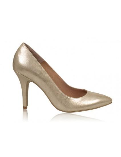 Pantofi stiletto piele auriu N7 - orice  culoare