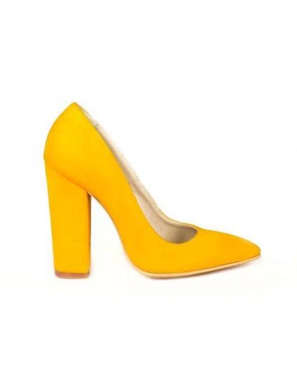Pantofi Piele Stiletto M3 Galben- orice culoare
