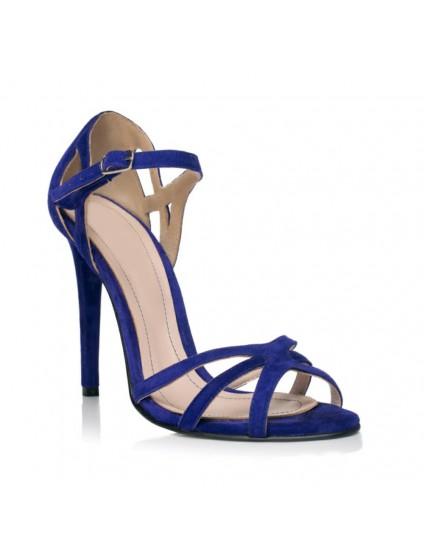 Sandale dama piele intoarsa Diva Albastru electric F4 - pe stoc