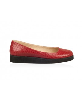 Balerini Piele Rosu Snake  Moni N10 - orice culoare