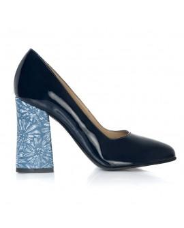 Pantofi Piele Naturala Toc Evazat Chic T1 - orice culoare