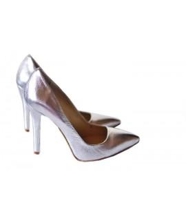 Pantofi Stiletto Very Chic  Argintiu - disponibili pe orice culoare