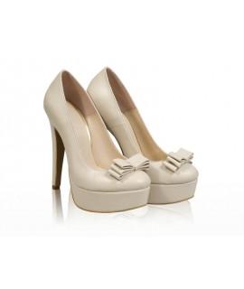 Pantofi mireasa N30 Sexy Bride cu fundita - orice culoare