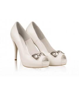 Pantofi mireasa N8 Silver cu fundita - orice culoare